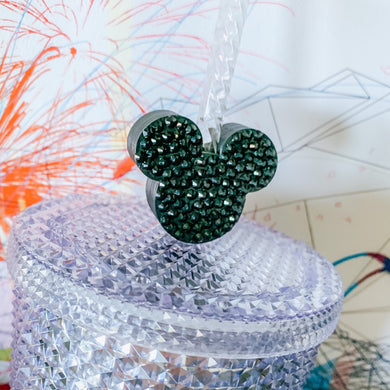 Magical Jumbo Straw Bling Mouse Head