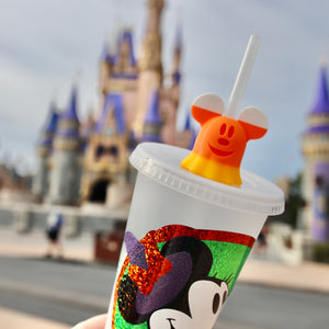Magical Mouse Ghost Candy Corn Straw Topper