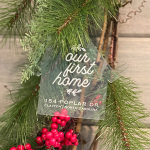 Our First Home Christmas Ornament | Personalized Christmas Ornament