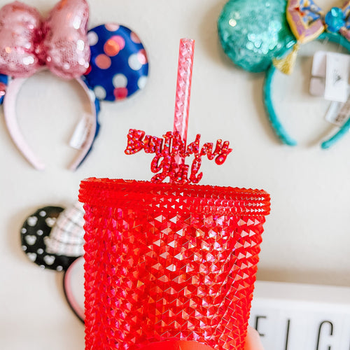 BLING Birthday Girl Straw Topper | Straw Buddy | Straw Charm | Straw Decoration