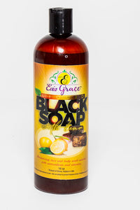 Liquid Black soap facial/body wash with Lemon