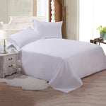 Single White Bed Sheet (With out Pillow cover)