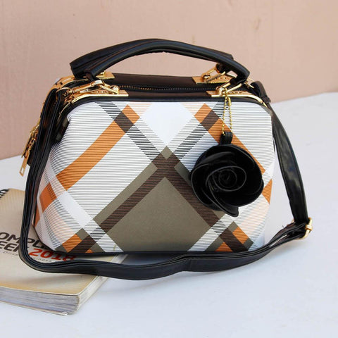Ladies Hand Bag Black Rose