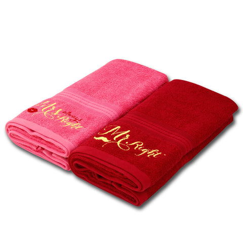 2 Pcs Mr. & Mrs Towel