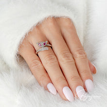 Load image into Gallery viewer, Pink Fox Silver Ring