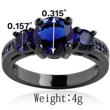 Load image into Gallery viewer, Obsidian Crystal Dark Ring