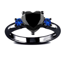 Load image into Gallery viewer, Black Heart Dark Ring