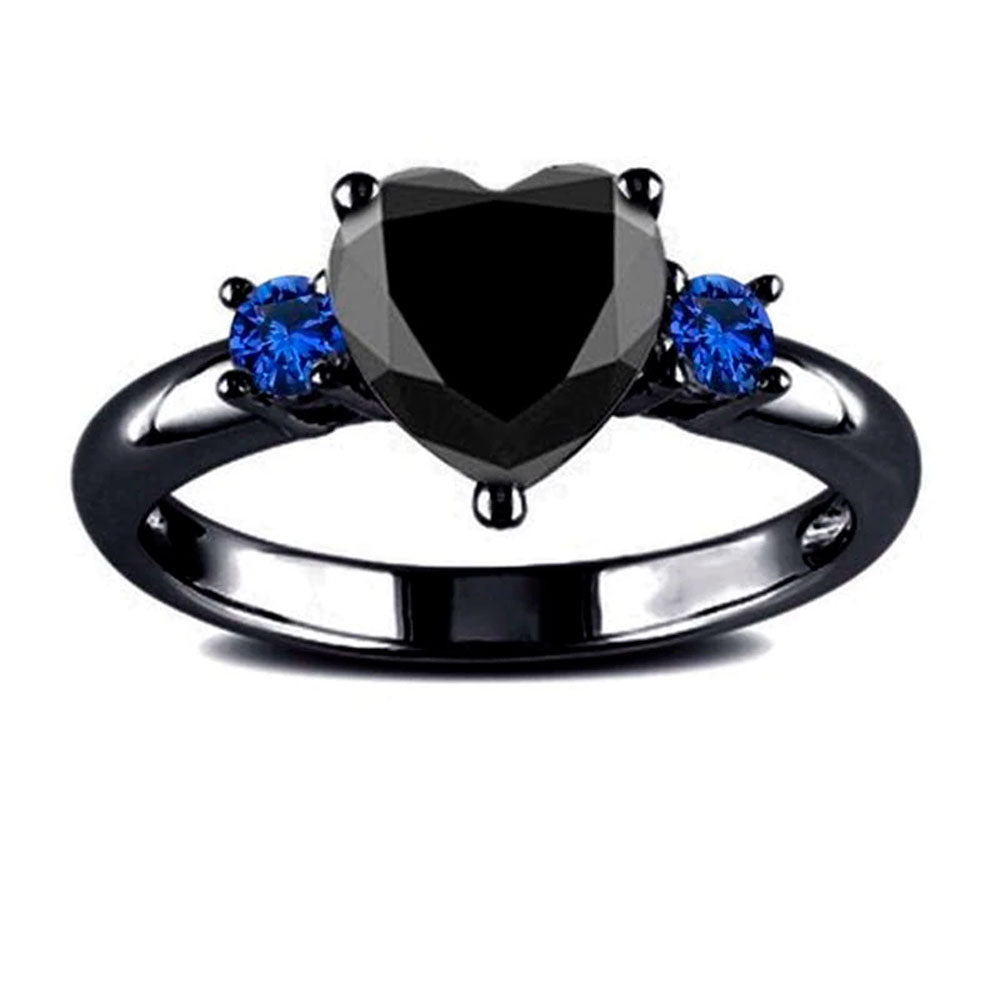 Black Heart Dark Ring