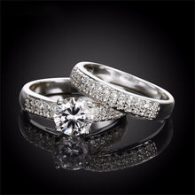 Load image into Gallery viewer, Devoted Crystal Bridal Ring Set