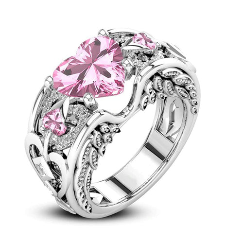 Whisper Princess Pink Heart Ring
