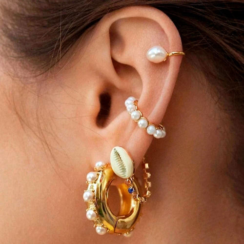 Imitation Pearls Ear Cuffs
