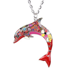 Load image into Gallery viewer, Colorful Dolphin Pendant Necklace