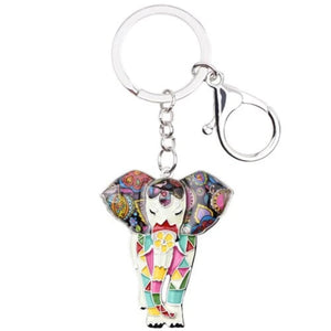 Brilliant Elephant Keyring