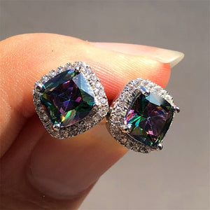 Sparkle Crystals Stud Earrings