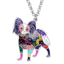 Load image into Gallery viewer, Papillon Dog Pendant Necklace