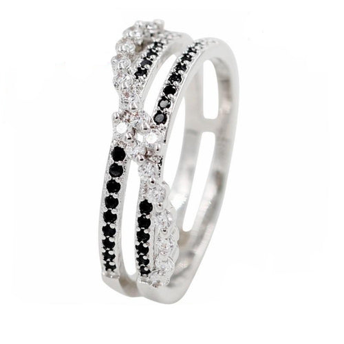 Twisted Emotions CZ Double Ring