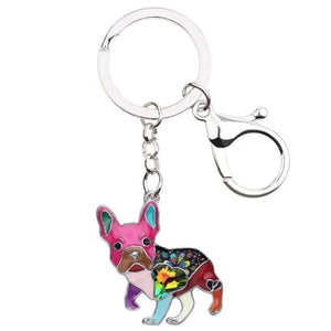 Pug Dog Keychain