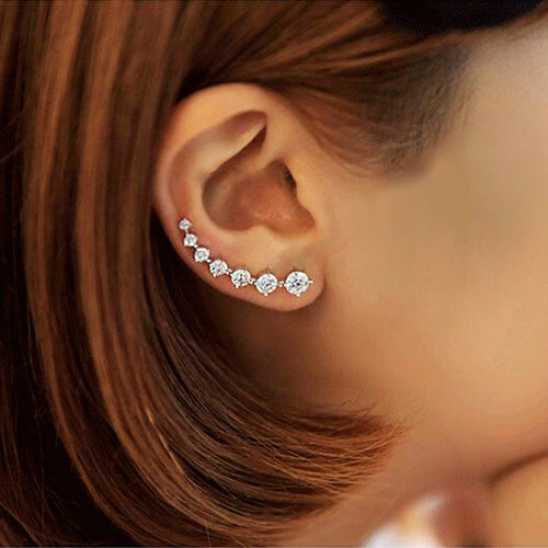 Blushing Crystal Stud Earrings