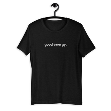Load image into Gallery viewer, good energy tee (black)