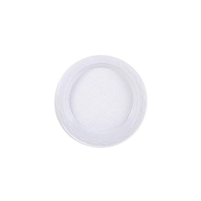 "7"" 18cm Disposable Plastic Plates Ideal For Catering  And Street Food Packaging"