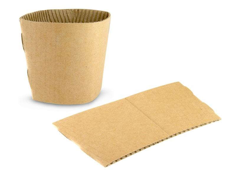 12-16oz Kraft Coffee Clutch Sleeve - Gafbros