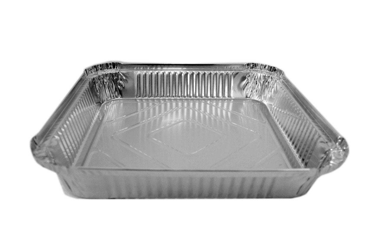 9 x 9 x 1.5'' Shallow Foil Containers - Gafbros