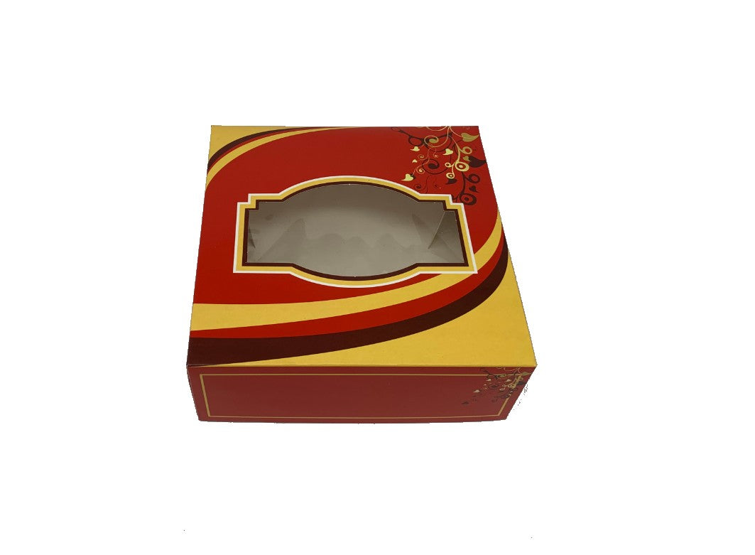 GL3 Red Sweet Boxes 152X152X38mm - Gafbros