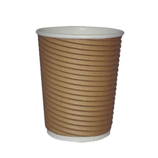 16oz Kraft Ripple Double Wall Hot Paper Cups - Gafbros
