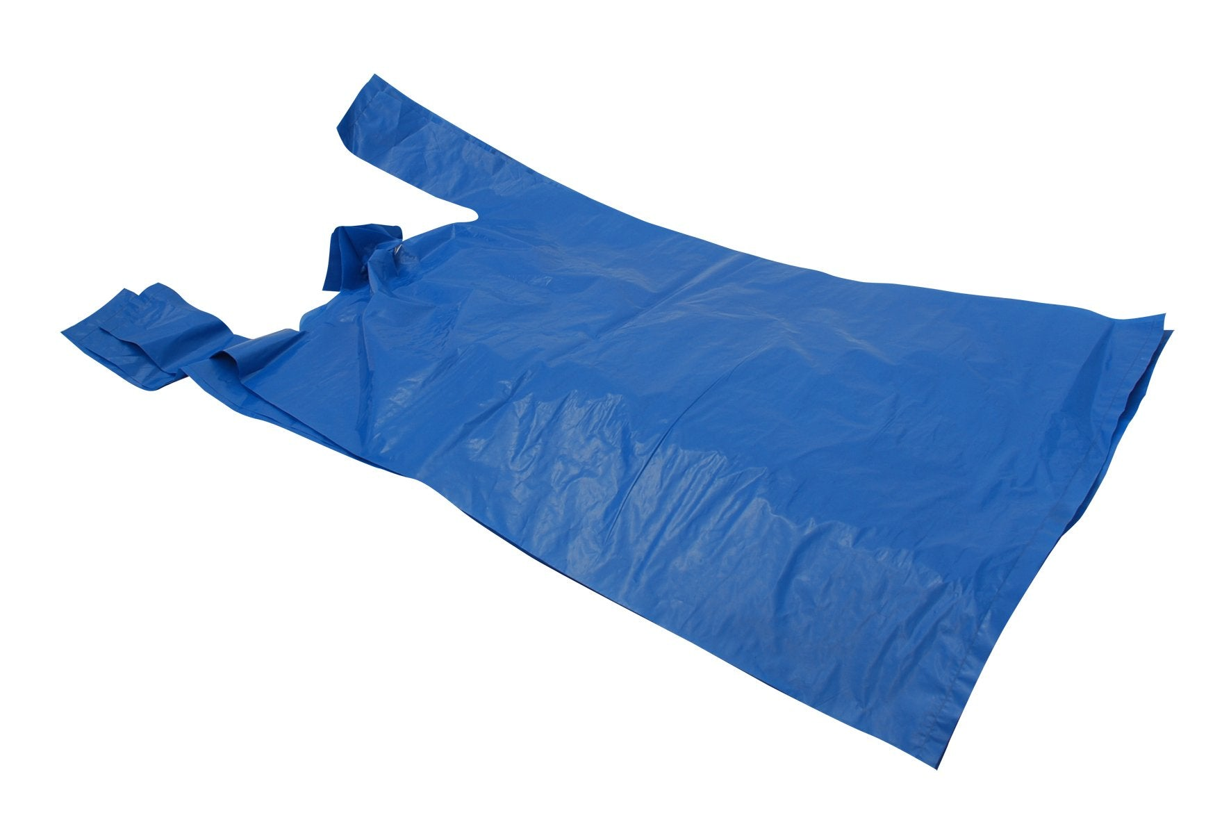 12 x 18 x 24 23mu Blue Recycled Vest Plastic Carrier Bags (Falcon 2) - Gafbros