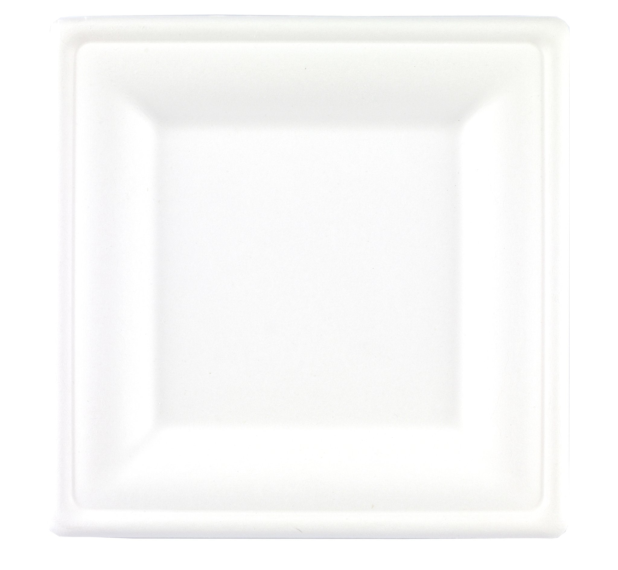 "8"" Bagasse Compostable Plates Square - Gafbros"