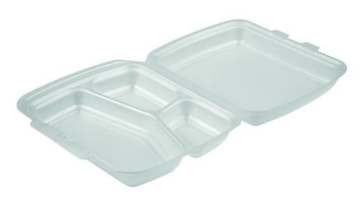HP4/3 White Foam Meal Boxes - Gafbros