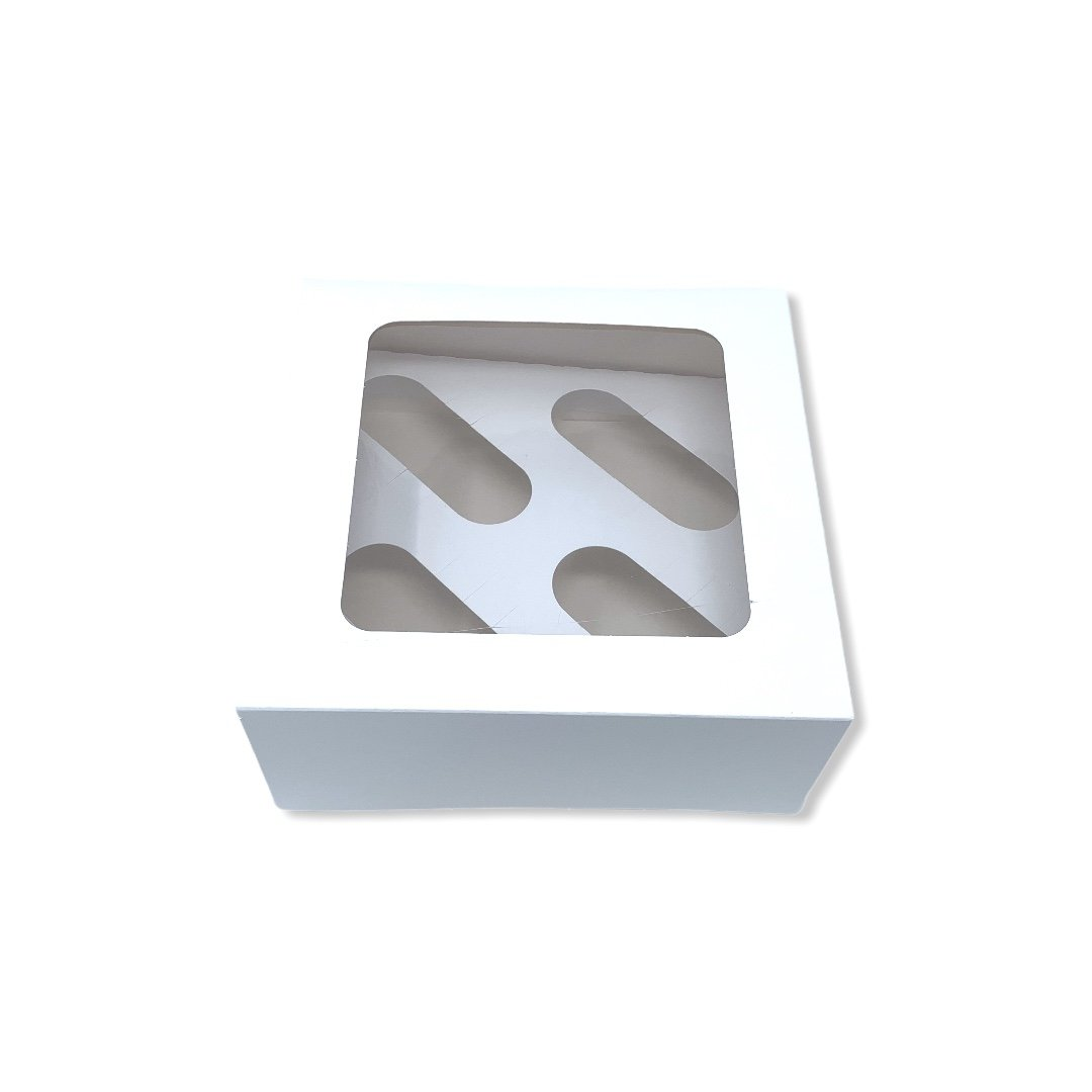 4 Cup Cake Boxes With Inserts - Gafbros