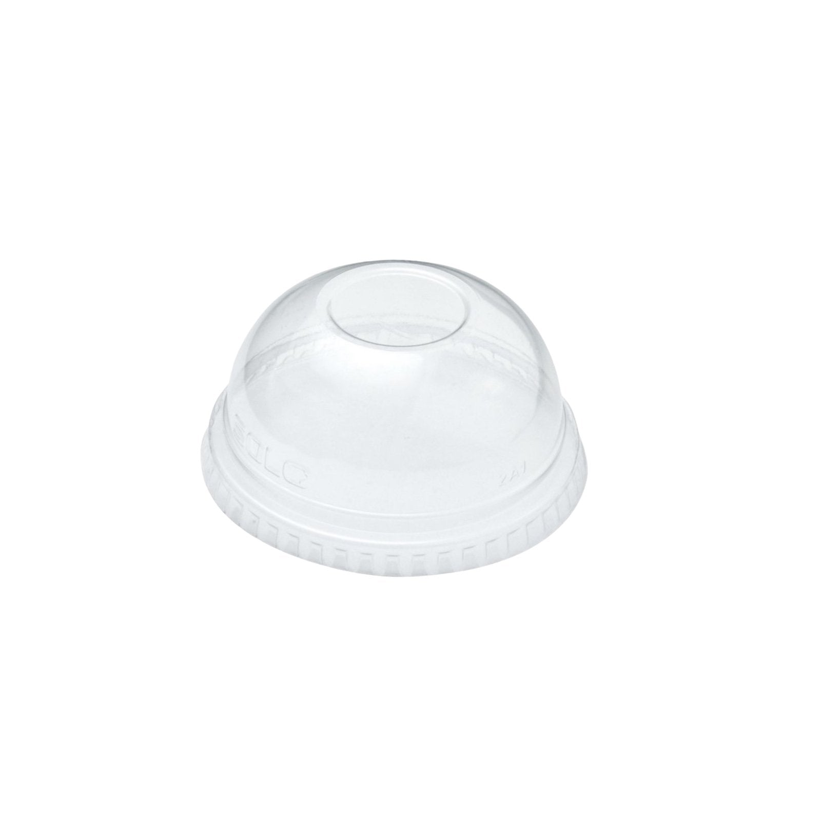 12oz Clear PET Domed Lids With Hole - Gafbros