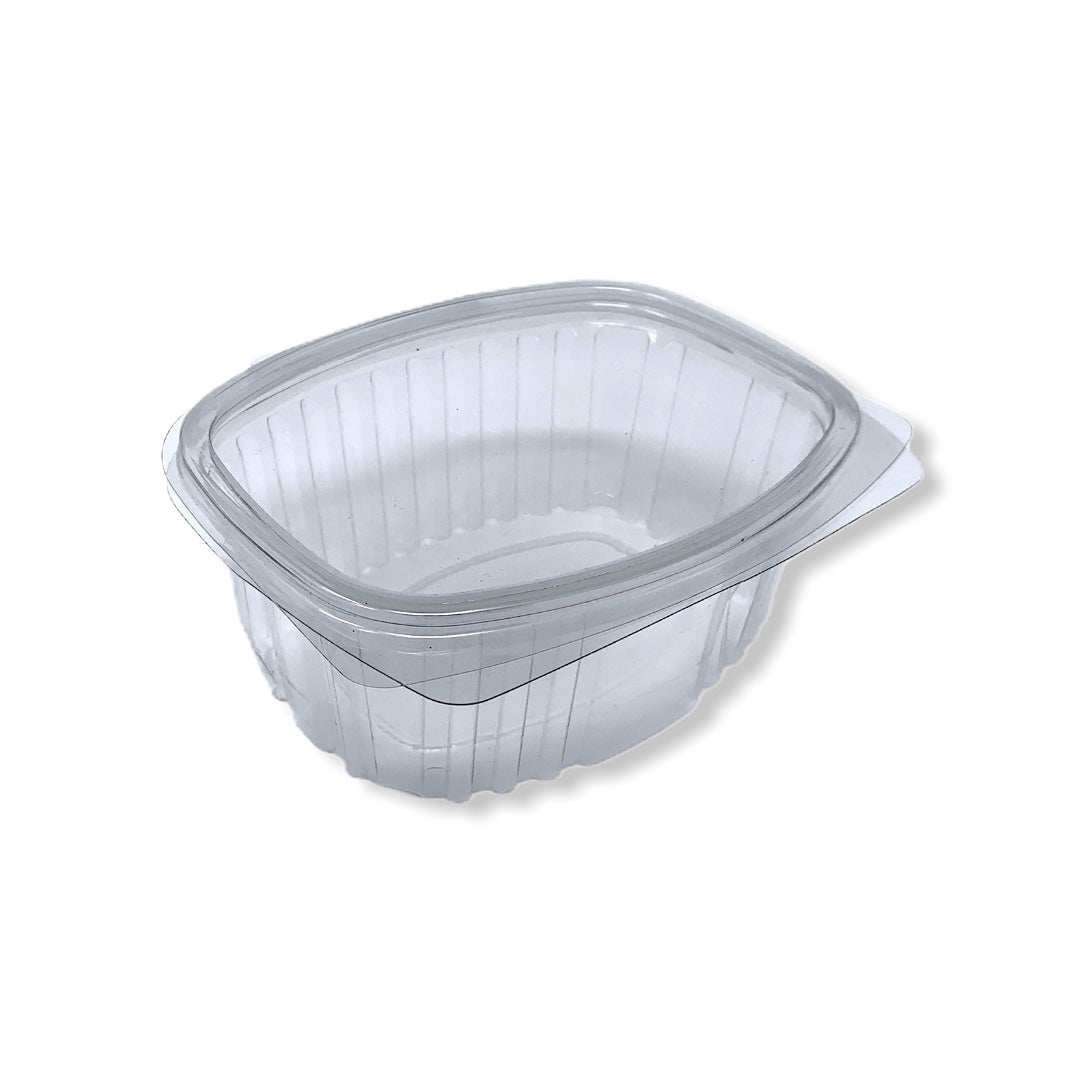 375cc Oval Hinged Containers 130x105x55 - Gafbros