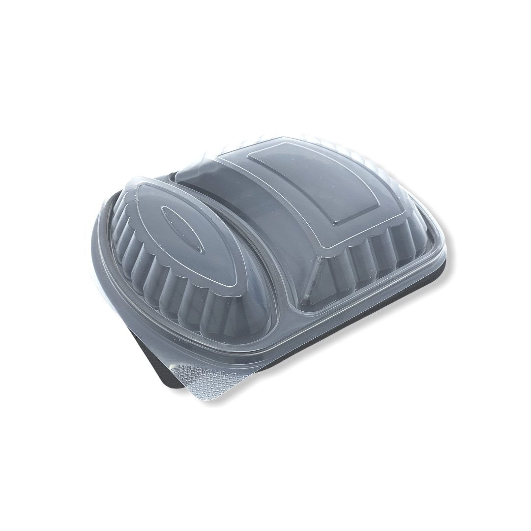 2 Compartment Microwave Meal Boxes & Dome Lids - Gafbros