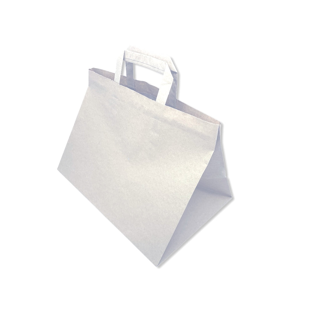 Extra Large White Flat Handle Paper Bags