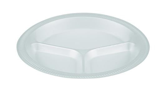 "10"" 3 Section Polystyrene Foam Plates (TP4/3) - Gafbros"