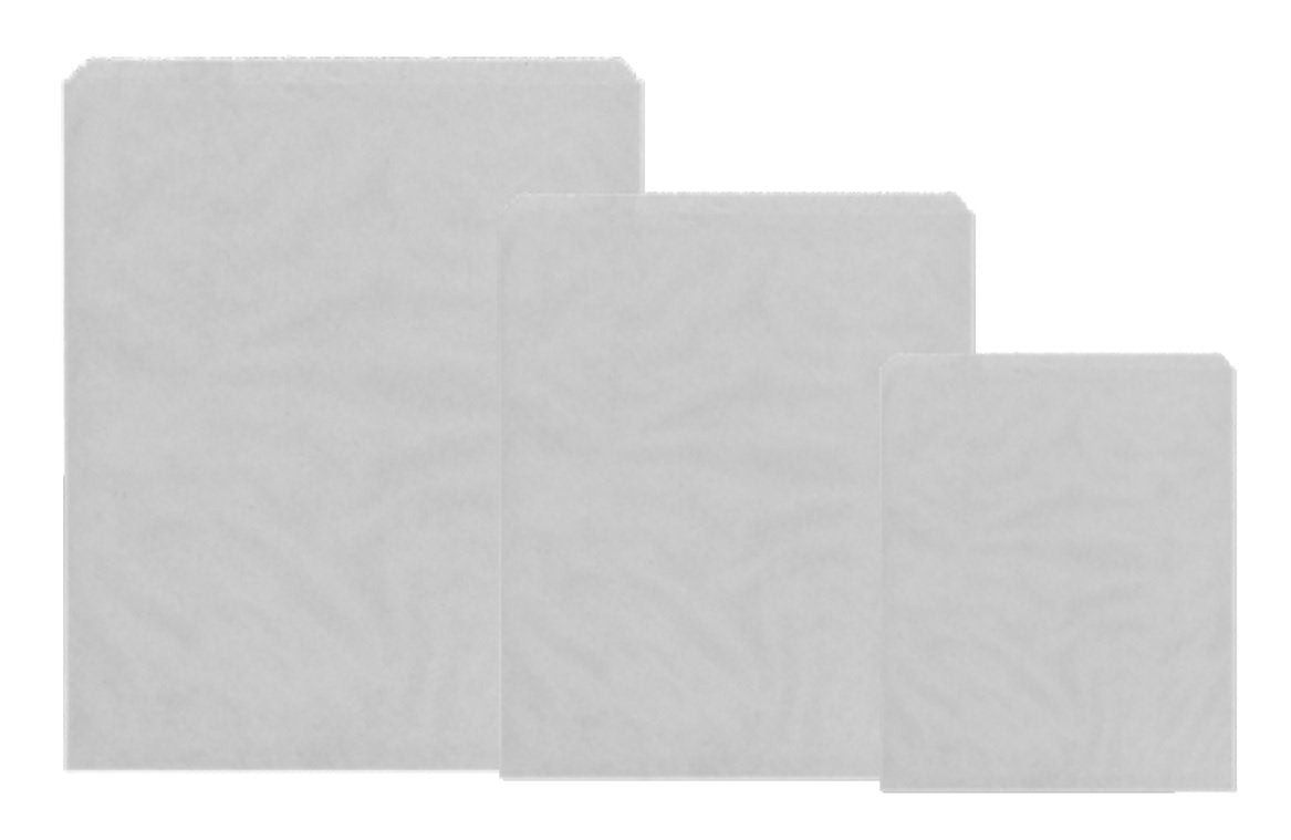7 x 7 White Sulphite Paper Bags - Gafbros
