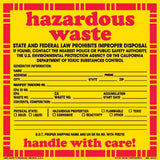 Hazardous Waste - STATE AND FEDERAL LAW PROHIBITS IMPROPER DISPOSAL IF FOUND.