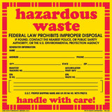 Hazardous Waste - FEDERAL LAW PROHIBITS IMPROPER DISPOSAL IF FOUND.