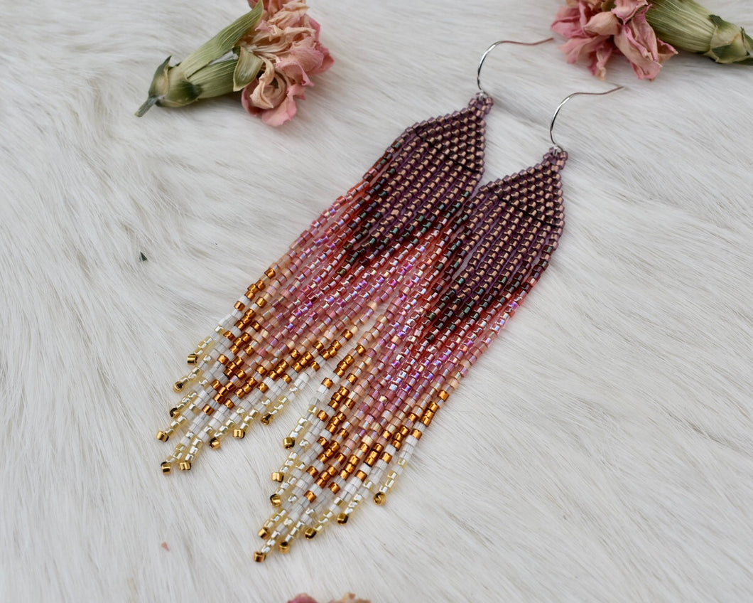 hyacinth and lilac long fringe