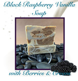 Black Raspberry Vanilla Soap with Berries and Cream