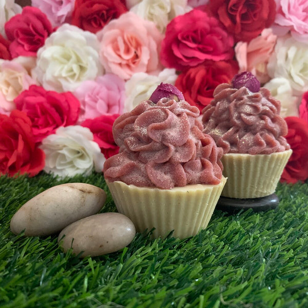 Rosehip and Geranium Goats Milk Cupcake Soap