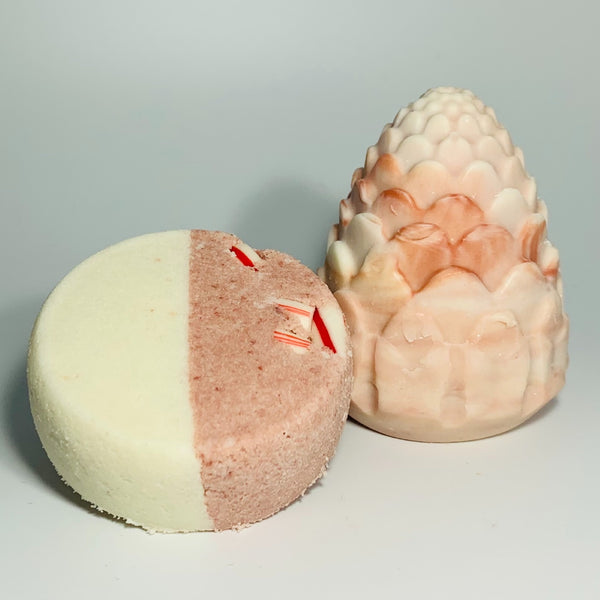 Candy Cane Pinecone Soap and Peppermint Goats Milk Bath Truffle Bundle