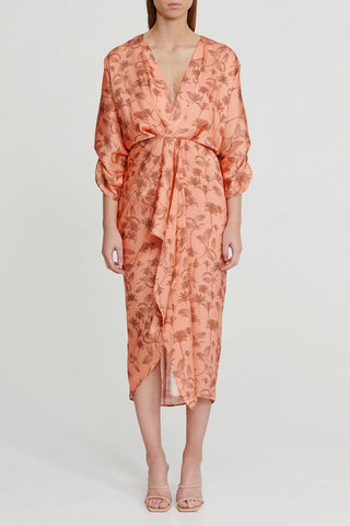 MAYA PALM DRESS - The SMITH