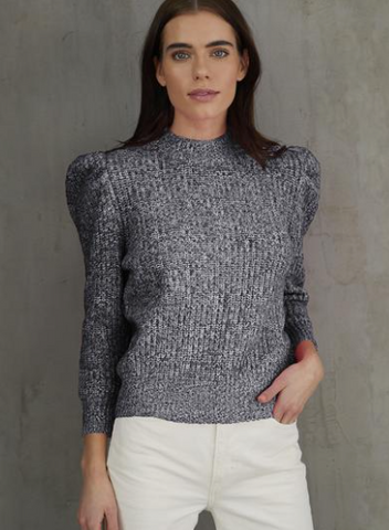 Tweed Puff Combo Sweater - The SMITH