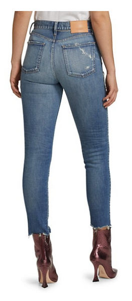MOUSSY VINTAGE HAMMOND HIGH RISE IN BLUE - The SMITH