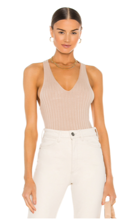 CROSS BACK TANK IN OAT - The SMITH