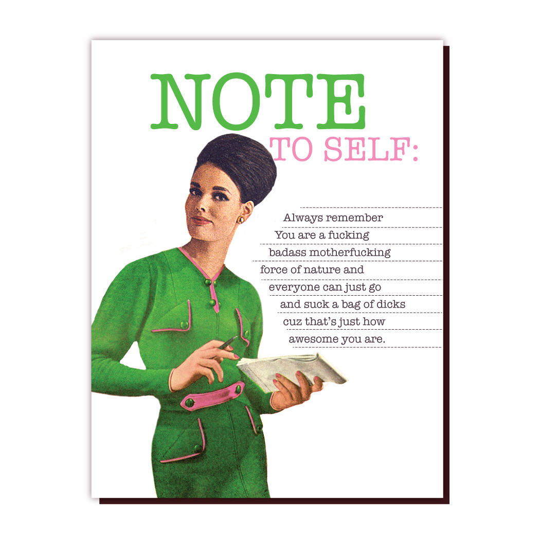 Note to Self Card - The SMITH