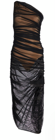 Diana Dress in Black Mesh - The SMITH